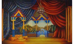 Sultans Palace theatrical backdrop Dick Whittington